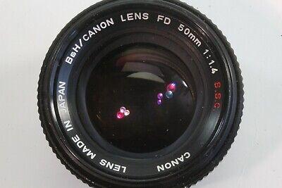 B&H/Canon 50mm 1:1.4 S.S.C. Canon FD Lens. Japan.