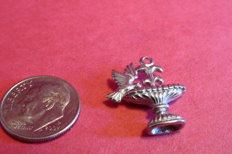 20  Pewter Bird Bath Charms