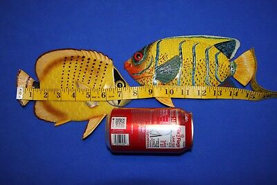 (2) Colorful Ocean Fish Wall Hangings Seafood Restaurant Decor, 8 inches,113 137