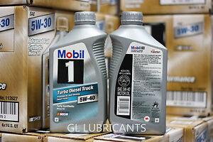 mobil 1 turbo diesel truck engine oil 5w40 6 quart ebay. Black Bedroom Furniture Sets. Home Design Ideas