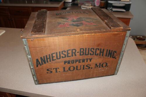 Vintage Budweiser Wooden Crate Box Centennial 1876-1976 Anheuser Busch