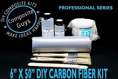Carbon Fiber Fabric 6 X 50 Composites Laminating Skinning Kit 3k 2x2 Twill