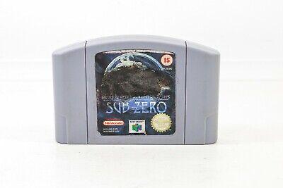 Tested Working Mortal Kombat Mythologies Sub-Zero Nintendo 64 N64