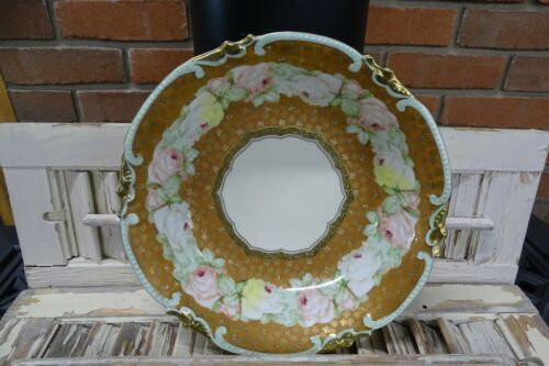 Antique Royal Vienna Moriage and Roses Gold Serving Bowl for Easter