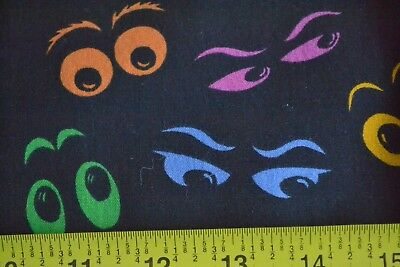 By 1/2 Yd, Scary Halloween Eyes on Black Quilting, Textile Arts & Film, N1251 - Films On Halloween