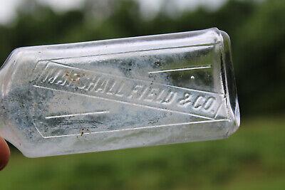 Marshall Field & Co. Department Store Medicine Perfume Cork Embossed Bottle Rare