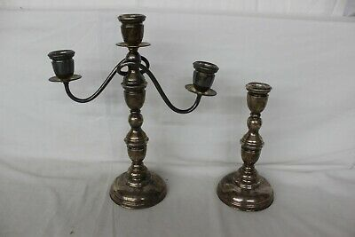 Candlesticks Candelabra 5 Arm Silver Candelabra