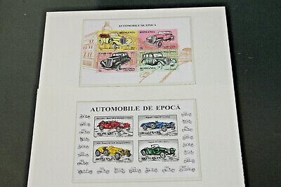 ROMANIA - 1996 - CARS - SET OF 2 MINI SHEETS - BOTH MNH