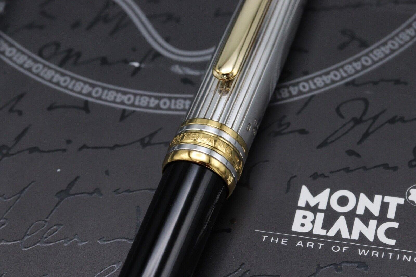 Montblanc Meisterstuck Solitaire Doue AG925 163 Classique Rollerball Pen 2