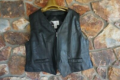 Ewear Genuine Lamb Leather Vest top size 3x Black lined -