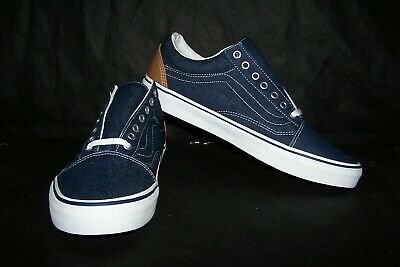 VANS Old Skool (Denim C&L) Men's Skaters Dress Blues & Chipmunk Sz 12 NIB! NICE!