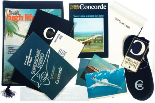 Concorde In-Flight Passenger Collection Bundle w/ RARE  Items British Airways
