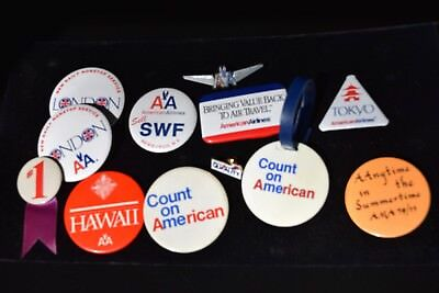 Vintage Lot American Airlines 11 Pin lot