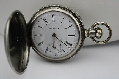 Old Key Wind Security Swiss Movement Hunters Case Chief Pocket Watch