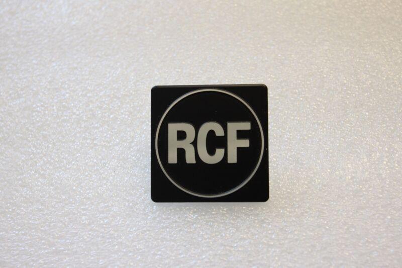 For Replacement RCF Logo Badge 40mm Square- Aluminium
