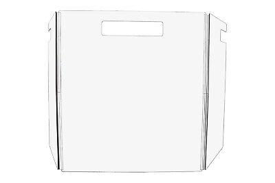 22w Protection Sneeze Guard Freestanding Clear Acrylic Plexiglass Scratch Dent