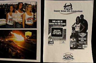 2005 Hooters Girl Super Bowl 05 Promotional Ad Slick Funny Car Racing Photos