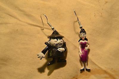 Boris Badenov & Natasha Fatale Earrings-1960's The Rocky and Bullwinkle Show