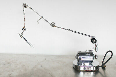 Vintage Emesco 92n Dental Drill Motor Crane - Chromed Steampunk Antique