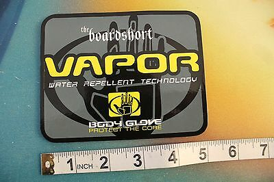 "BODY GLOVE VAPOR boardshort protect the core ~5"" Vintage Surfing Decal STICKER"