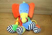 Jelly Kitten Jellycat Brightly Coloured Elephant Baby Soft Toy Comforter Rattle - jellycat - ebay.co.uk