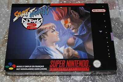 SNES STREET FIGHTER ALPHA 2 BOX ONLY PAL VERSION NEW NO GAME