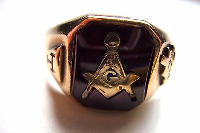 VINTAGE- Blue Lodge-Free Mason-Masonic,10kt. RING 4.7 GRAMS $189.00