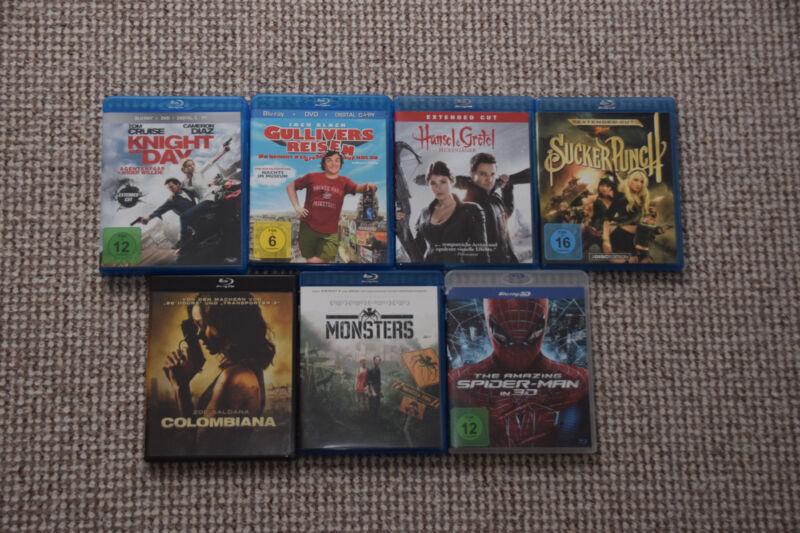 Blu-Ray Filmesammlung mit 7 Filmen (Normal und 3D Bluray)