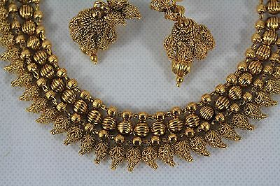 Bollywood Style Indian Gold Plated Jewellery Party Necklace Earrings Jhumki 187