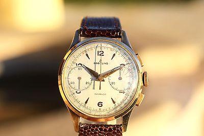 Rare 1951 Vintage BREITLING #1189 Chronograph Watch Serviced Venus/Valjoux +BOX