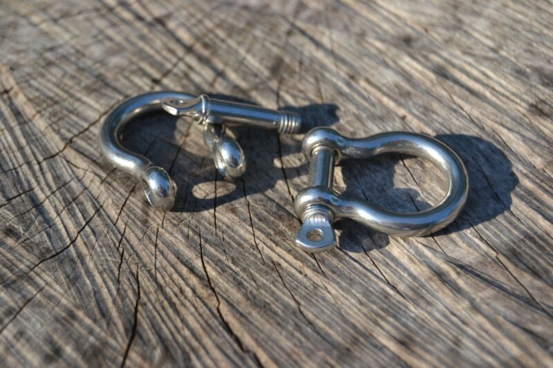 Lot of Stainless Steel Bow Shackles w/Twist Pin for Paracord Bracelets ***USA***