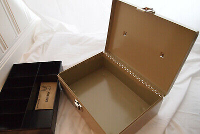 Mmf Industries Metal Cash Box With Fixed Coin Trays And 2 Keys