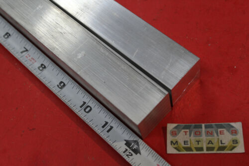 "2 Pieces 1-1/4""x 1-1/4"" SQUARE ALUMINUM 6061 SOLID BAR 12"" long T6511 Mill Stock"