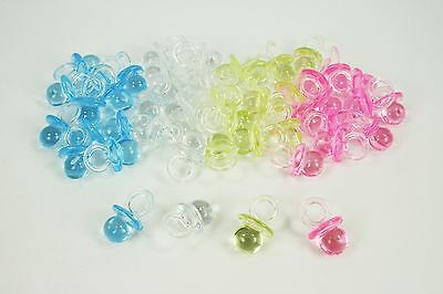 500 Mini Acrylic Pacifiers Baby Shower Favor 3/4