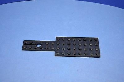 LEGO 1 x Bauplatte Pat Pend 4x14 Noppe 804 schwarz mit Feder Lenkfahrzeug  - Schwarz Pat 4