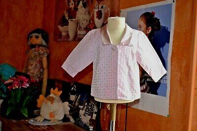 Veste christian  dior 3 mois doublee rose satinee initiales voir robe assortie