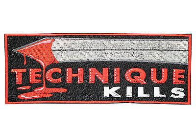 Jiu Jitsu BJJ Gi Patch TECHNIQUE KILLS Jiu Jitsu Gift IRON-ON Stocking Stuffer