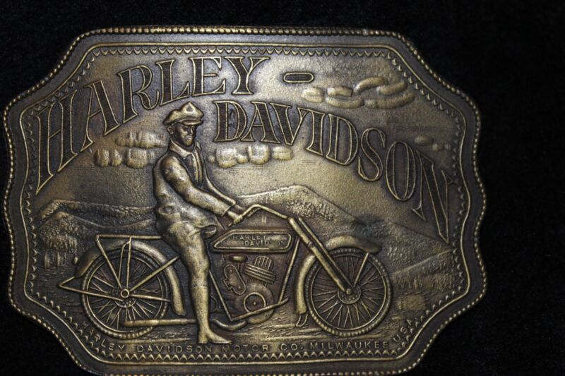 Harley Davidson Collectable Belt Buckle Indiana Metal Craft
