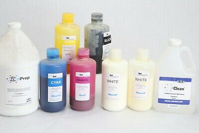 Lot Partial Containers Mr I-dot Ink I-prep I-clean White Ryonet Screenprint