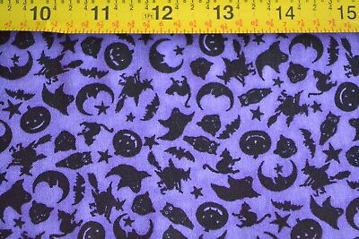 Halloween Themed Treats (By 1/2 Yd, Halloween Theme on Purple Quilting, Marcus/Tricks & Treats/3462)