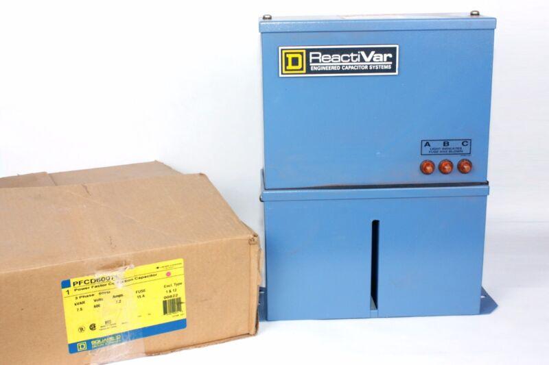 Square D PFCD6007F  7.5 kVAR, 600V, 7.2 Amps, Fuse 15A, Power Factor Correction