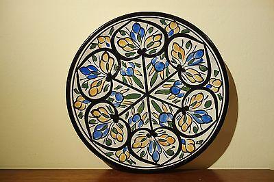 antiker arabischer Teller handbemalt Keramik Marokko
