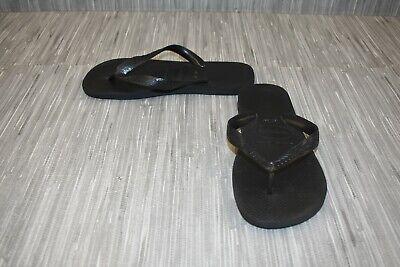 **Havaianas Slim Flip Flops - Women's Size 7/8 - Black