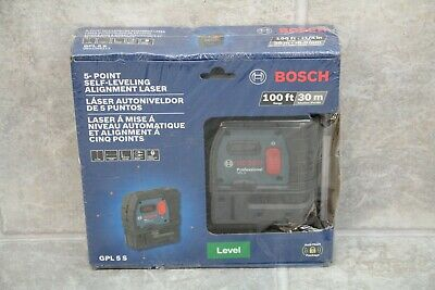 BOSCH 5 Point Self Leveling Plumb & Square Alignment Laser (GPL 5 S)