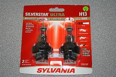 Sylvania Silverstar ULTRA H139008 Pair Set High Performance Headlight Bulbs NEW