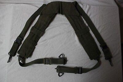 US Military Issue Vietnam Era M1956 Canvas H Belt Suspenders Size Large S8 for sale  Wilmington