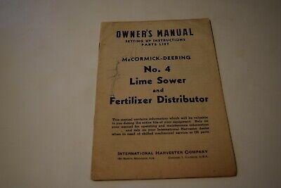 International Harvester Mccormick Deering 4 Lime Sower Fertilizer Distributor