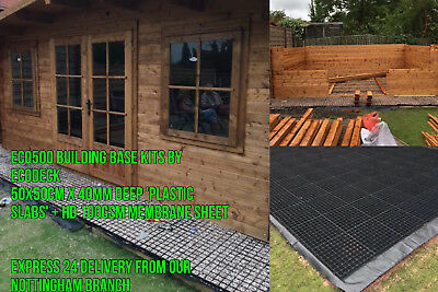 6x6 FEET SHED BASE 2X2M = 4 SQM GREENHOUSE BASE ECO PAVING SLAB GRID