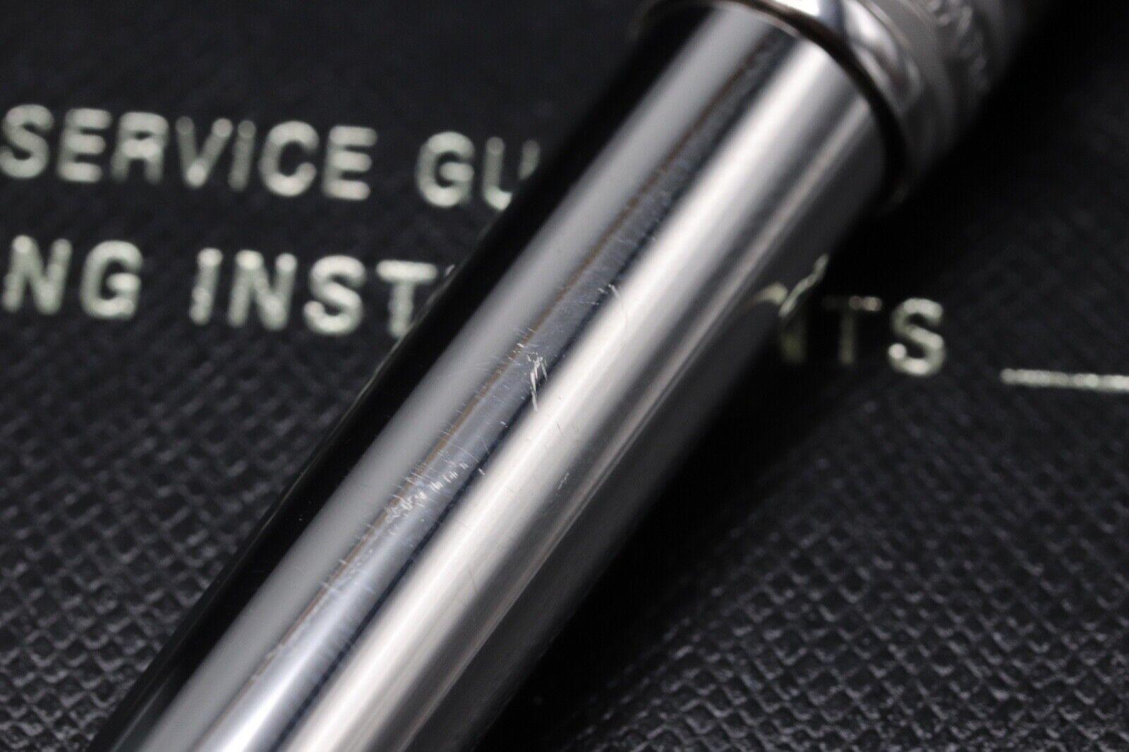 Montblanc Meisterstuck 144 Classique Carbon Steel Fountain Pen 8