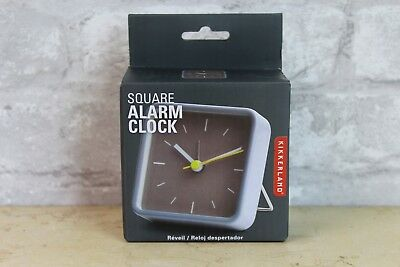 Kikkerland Small Square Travel Alarm Clock